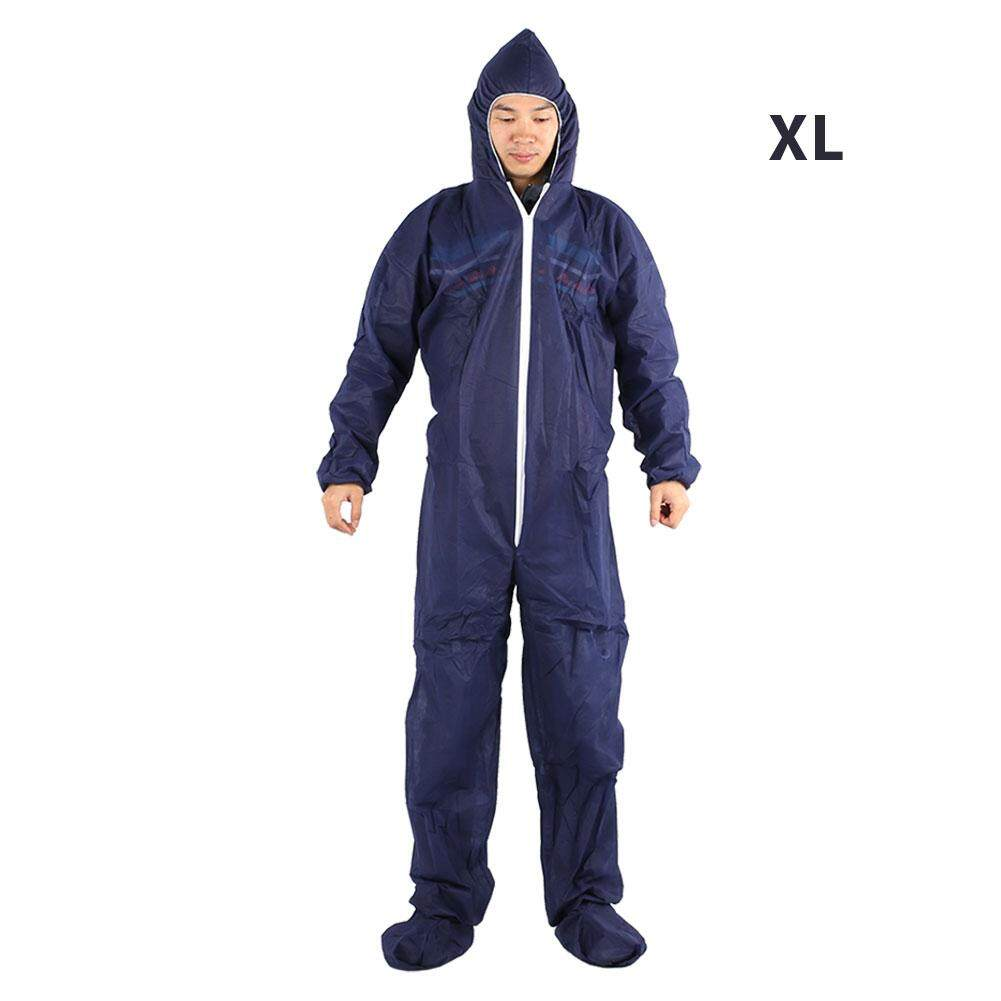 Qearl Shop Practical hot sale!!!Protective Clothing Work Clothes Lightweight Disposable Dark Blue Cover Worker