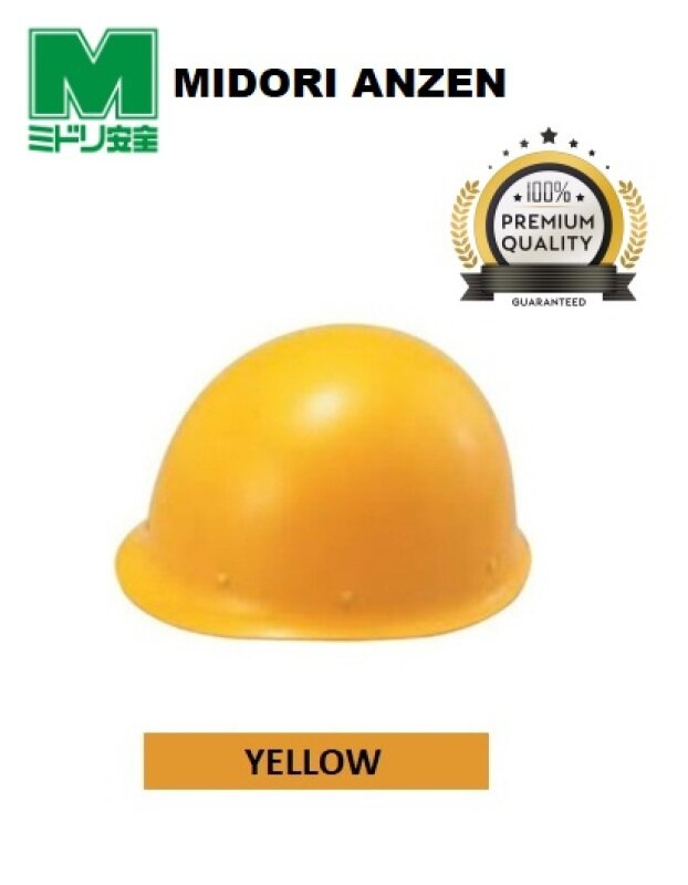 MIDORI (JAPAN) Fiberglass Lightweight General Purpose Safety Helmet / Safety Hat c/w M type One-Touch Jaw Band & Anti-escape Mechanism