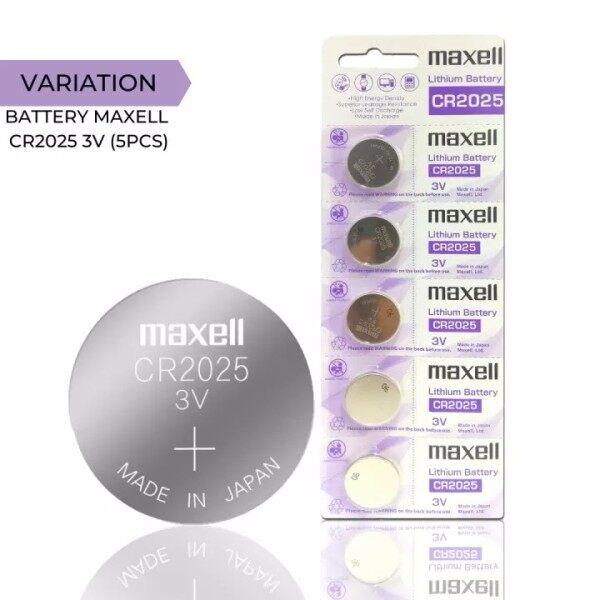 🔥 Original Maxell Lithium Cell Battery CR2025 Remote Batttery Watch Battery Bateri Jam Tangan Bateri Kunci Kereta