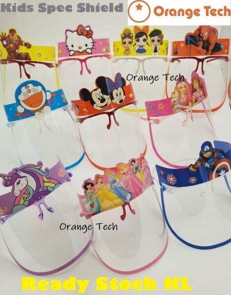 READY STOCK KL. Kids Cute Face Shield Eye Protection for Students at School Kindergarden Academy Face Spec Shield.
