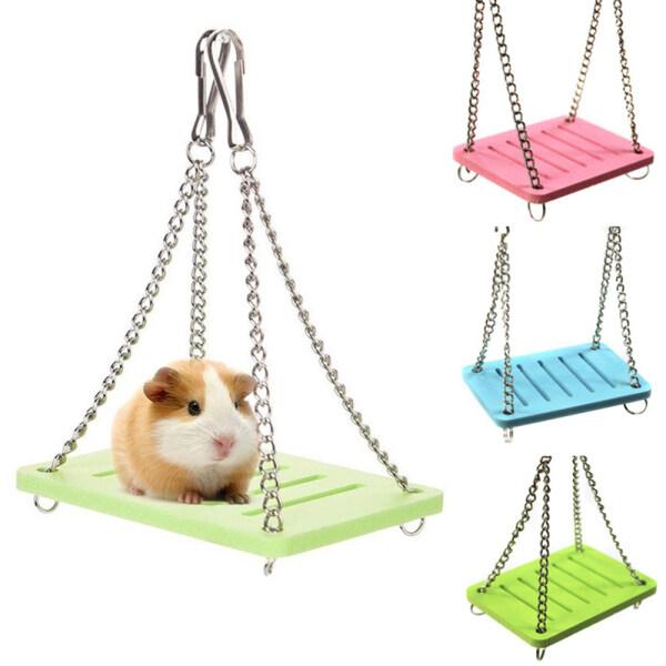Động Vật Nhỏ Bằng Gỗ Độc Đáo Guinea Lợn Treo Tiện Ích Đu Quay Đồ Chơi Chuột Hamster Phụ Kiện Lồng