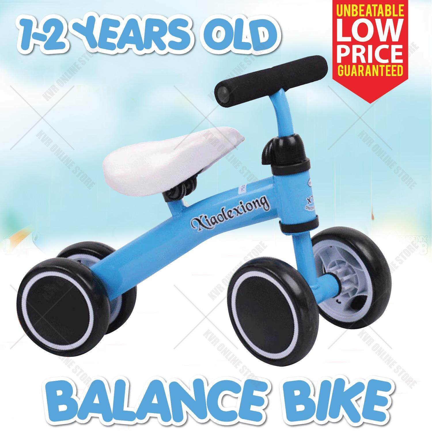 Baby Children Kid Balance Bike No Pedal Training Adjustable Seat 1-2y By Kvr Online Store.