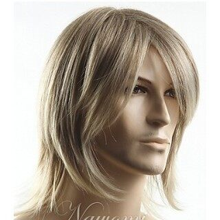 Tóc giả namEuropean and American Short Mixed Gold Layered Wig Anime Wig Cos European and American Men s Headgear Gold European and American Wigtóc giả thumbnail
