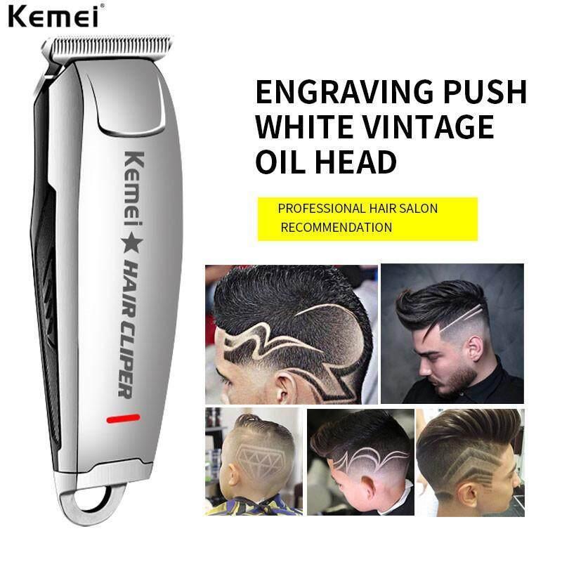 Kemei-2812 Hair Clipper 0mm Electric Hair Clipper Professional Haircut Razor Sculpture Hair Trimmer Beard Machine Hair Tools nhập khẩu