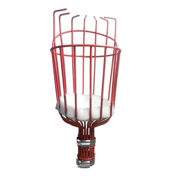 Fruit Picker Basket with Optional Splicing of Lightweight Stainless Steel To Pick Apples Oranges and Fruit Trees Fruit Picker Tool