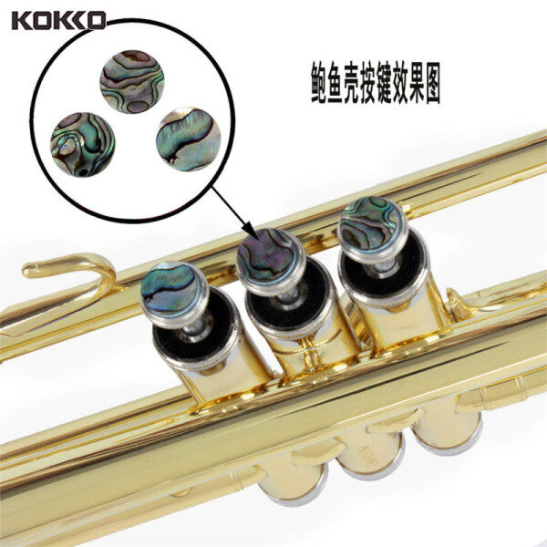 KOKKO Finger Buttons Trumpet Abalone Shell Button 3pcs/set for Trumpet Repairing Instruments Parts Accessories Malaysia