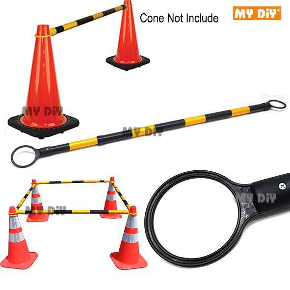 MYDIYHOMEDEPOT - High Quality 2 Meter Retractable Cone Bar Black Yellow / Safety Barricade Safety Divider Safety Cone / Safety Barricade Safety Divider Safety Cone - Retractable 2 Meter Traffic Cone Bar