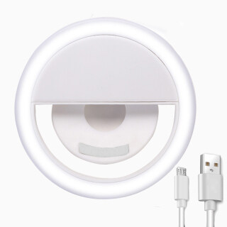Đèn LED Selfie, Đèn Vòng Selfie Điện Thoại Thông Dụng Đèn Flash Cầm Tay Điện Thoại Di Động Dạng Kẹp Ảnh Đèn Ngủ, Sạc USB thumbnail