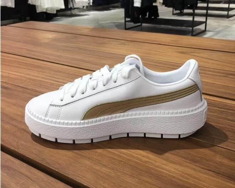 3e669a1b30e 2018 New Arrival Pumaa PLATFORM TRACE Sneakers Women s Badminton Shoes Size  35.5-40