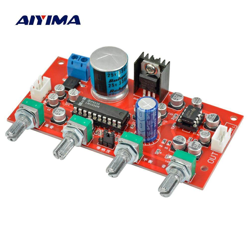 PHP 1.193. Aiyima LM1036 Tone Board Bass Treble Volume Control NE5532 OP-AMP HIFI Amplifier Preamplifier Board Single Power ...