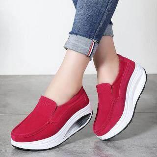 Dosreal Dành Cho Nữ Size Lớn 35-41 Thời Trang Nữ Phẳng Nền Tảng Giày Nữ Da Thoáng Khí Giày Nữ Điêu Thuyền giày thumbnail