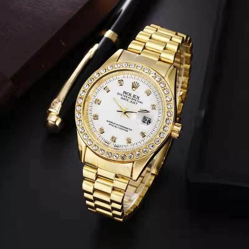New Arrival Original_Rolex Watch Men High Performance Waterproof Strap Quartz Watch Women Luxury Simple Fashion Delicate Elegant Watch Malaysia