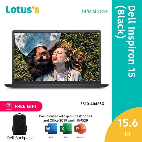 Dell Inspiron 15 3510 4042SG-W10 15.6 Laptop Black (Celeron N4020, 4GB, 256GB SSD, Intel, W10, HS) Malaysia