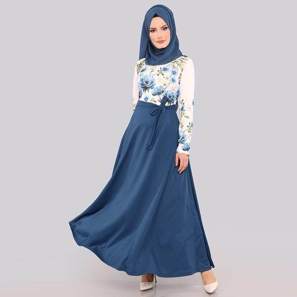 Women Maxi Dress Baju Raya Muslim Wear Jubah Muslimah Kurung By Qianshananzhengfushi.