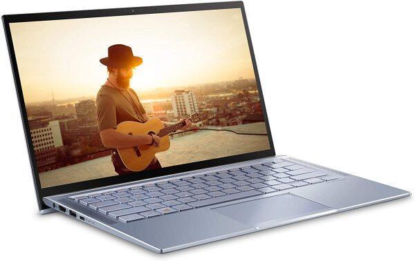 "ASUS ZenBook 14 Ultra Thin & Light Laptop, 4-Way NanoEdge 14"" Full HD, Intel Core i7-8565U, 8GB LPDDR3 RAM, 512GB NVMe PCIe SSD, Wi-Fi 5, Windows 10, Silver Blue Malaysia"