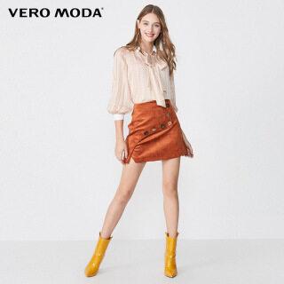 Vero Moda Phụ Nữ Nơ Cổ Áo Sọc Vàng 3 4 Tay Áo 320158505 thumbnail