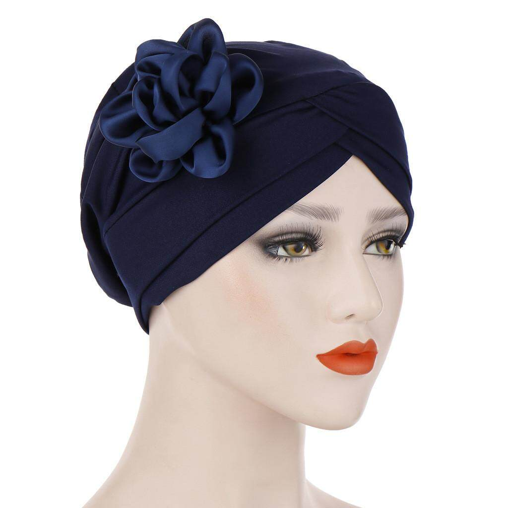 b46edfaace129 Murphystore Women Muslim Stretch Turban Hat Chemo Cap Hair Loss Head Scarf  Wrap Hijib Cap No