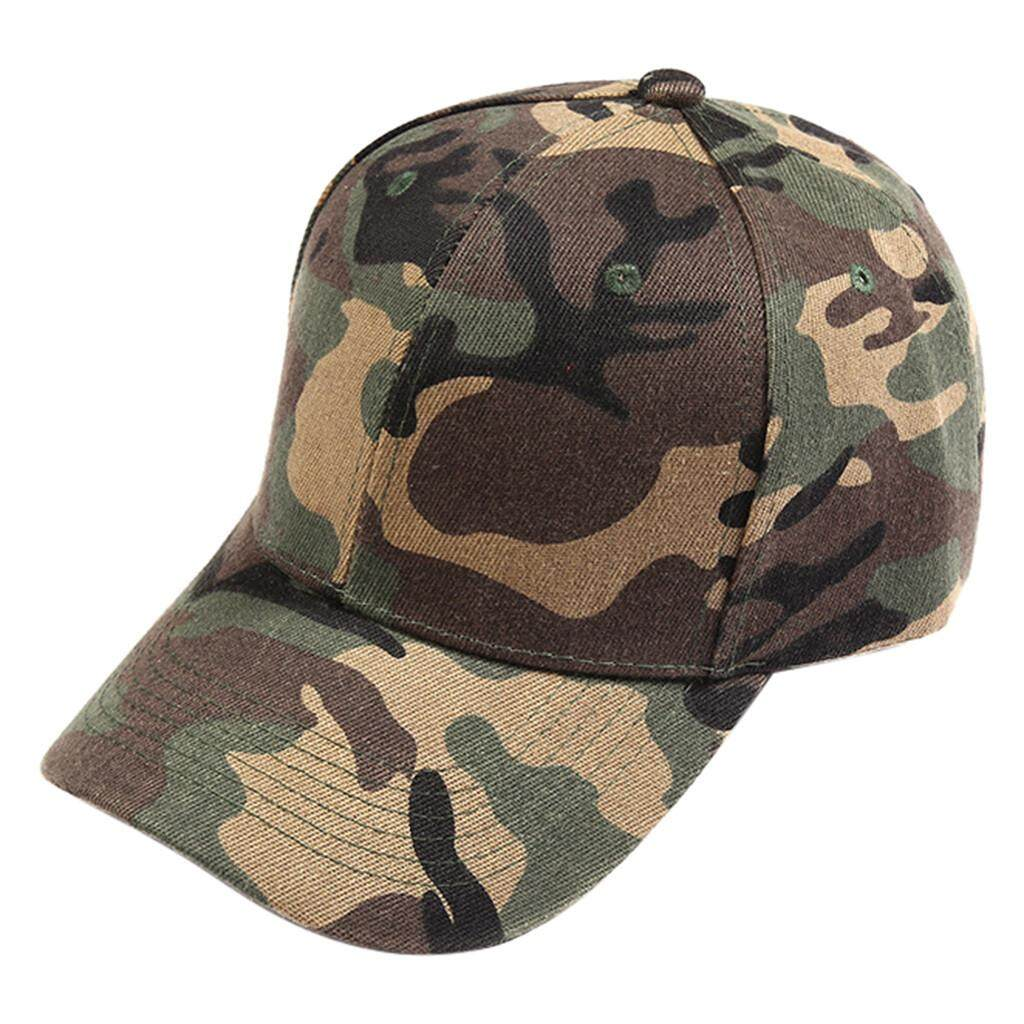 b99e398be09 Qusaystore Unisex Outdoor Camouflage Trucker Plain Baseball Visor Cap Dad  Hat