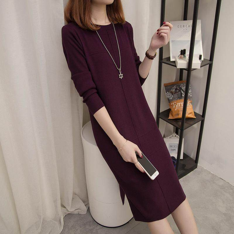 00dff89ae08 Women s Korean Version of the Loose Hooded Long Dress
