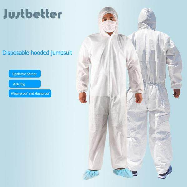 【Reday stock】Coverall Safety Boleh Guna Hooded Jumpsuit Coveralls Gaun Pembedahan Unisex Pakaian Pengasingan PPE Suit Protective Clothing