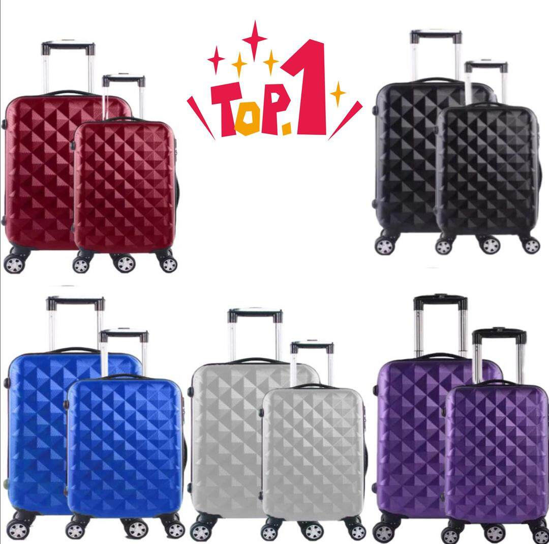 Luggage Plain Abs Suitcase 20inch / 24inch Travel Hard Case Luggage By Ready-Stock-Shop.