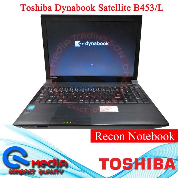 Toshiba Dynabook Setallite B453/L Recon Laptop/ Notebook{ 39.6 cm (15.6) Screen, Intel® Celeron®-1005M 1.9Ghz, 4 GB DDR3L-SDRAM, 320 GB HDD, Windows 10 64bits, Black Color} Malaysia