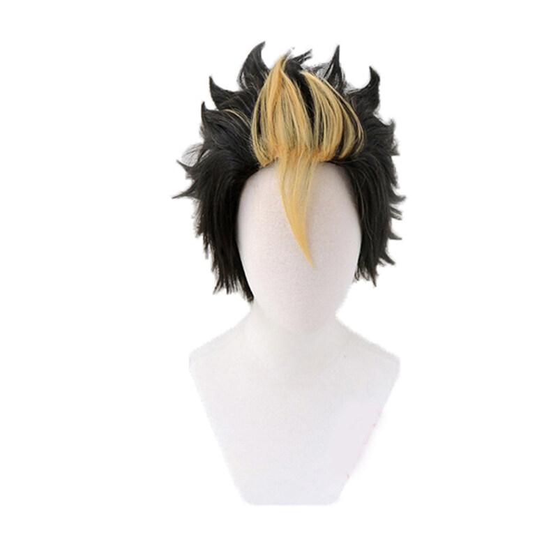 Family Flower Anime Haikyuu Volleyball Nishinoya Yuu Black Blonde Costume Cosplay Hair Wig Lazada