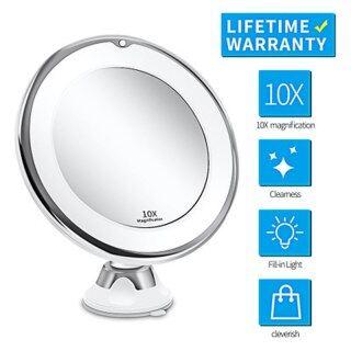 Gương LED Gương Trang Điểm Trang Điểm Gương Phóng Đại Mỹ Phẩm Cầm Tay Có Đèn LED Gấp 10 Lần Với Đèn LED Du Lịch Trang Điểm Gương thumbnail
