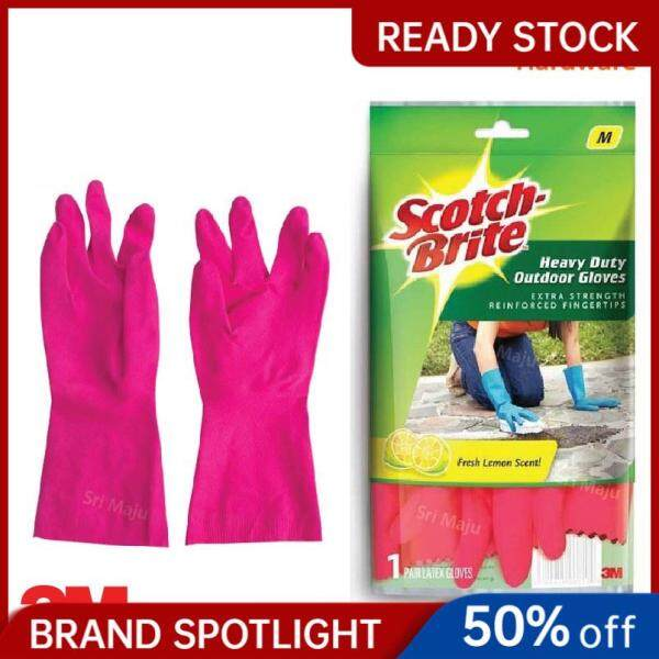 MAJU 3M Scotch Brite Heavy Duty Quality Hand Glove for Tough House Work Dish Wash Cleaning Task Office Sarung Tangan