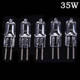 Wqneuisad 5Pcs 24V G5.3 35 W/50 W พื้นฐานฮาโลเจนโคมไฟไฟหลอดไฟหลอดไฟ