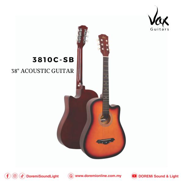 Vax 3810C 38 Acoustic Guitar with Cutaway Malaysia