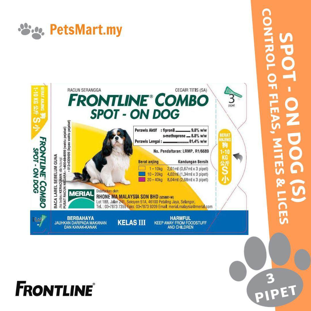 Frontline Combo Spot On For Small Dog (1kg To 10kg) By Petsmart.my.