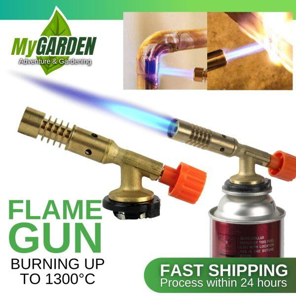 Flame Gun With Brass Head For Welding Plumbing Tanning BBQ Heating Ignition Butane Camping Welding Gas Torch ( 817# )