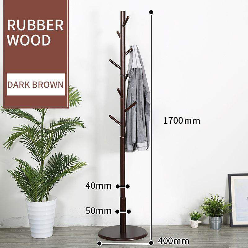 Creative Clothes Hat Rack Simple Solid Wood Clothes Rack Ground Bedroom Hanging Rack Household Simple Clothes Rack