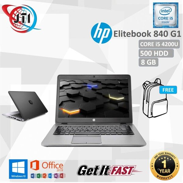 HP ELITEBOOK 840 G1 - CORE i5-4200U / 8GB RAM / 128 GB SSD / 500 GB HDD/ 14 INCHES SCREEN / WINDOWS 10 PRO / REFURBISHED Malaysia