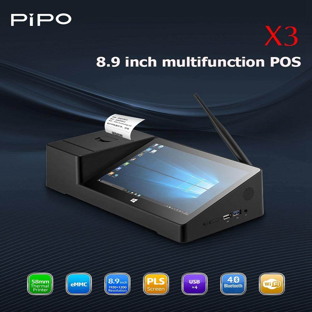 Pipo X3 8.9 Inch Pos Printer Receipt System Windows 10 + Android Dual Os Tablet Pc Computer ( 1 Year Local Warranty ) By Leonjunyin Global Enterprise.