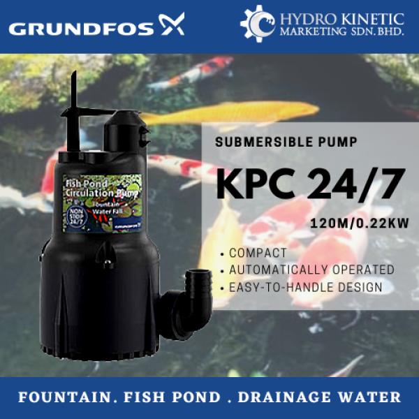 Grundfos KPC 24/7 210 Manual Submersible Pumps (0.22kW/0.3HP) Outdoor Water Pressure KPC24/7