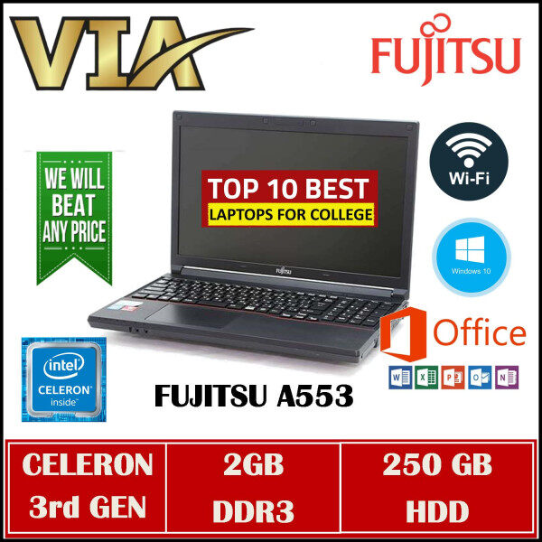 FUJITSU A553 CELERON 1000M-3RD GEN~2GB DDR3~250GB HDD~WINDOWS 10~GOOD BATTERY~ Malaysia