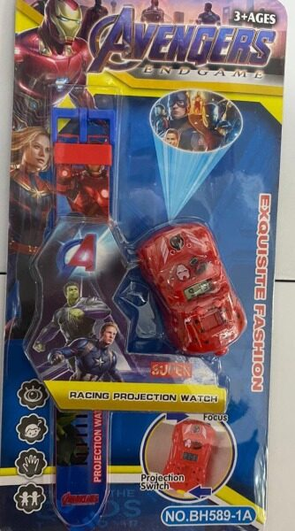Kids Watch Avengers Racing Projection Watch Exquisite Fashion 3+ Ages (*_*) Malaysia