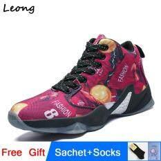 Plus Size 31-47 Giày Bóng Rổ Nam Trẻ Em Thoáng Khí Cao Giày Bóng Rổ Giày Sneakers Thể Thao