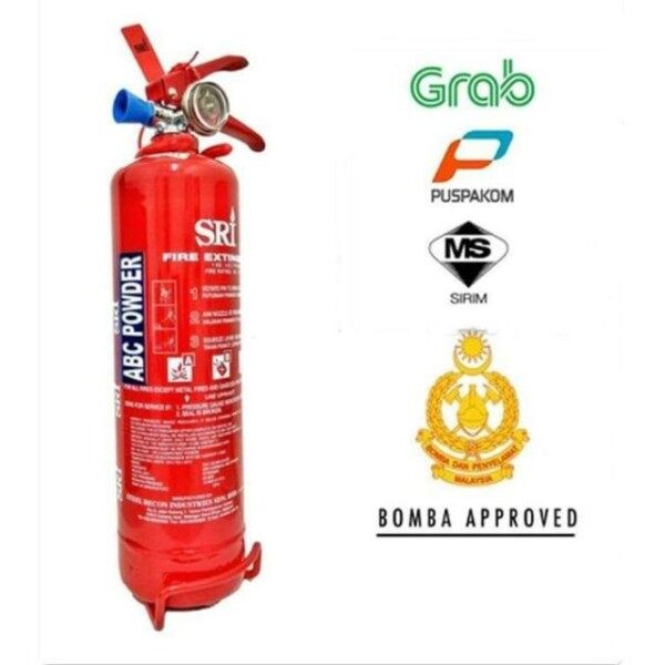 [WHOLESALE 2021 STOCK] 1kg Fire Extinguisher ABC Powder Sirim Certified & Bomba Approved