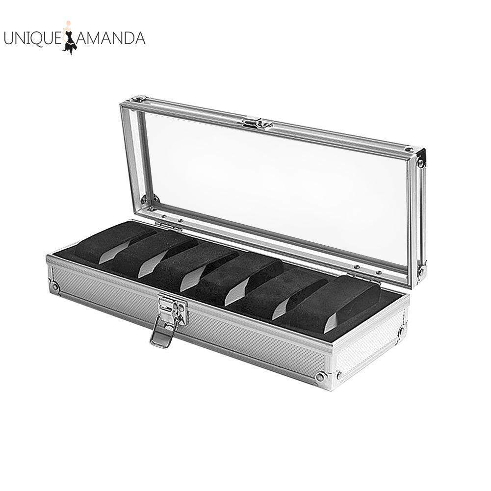 6 Grids Aluminum Watch Storage Box Case Holder for Watches Jewelry Display Malaysia