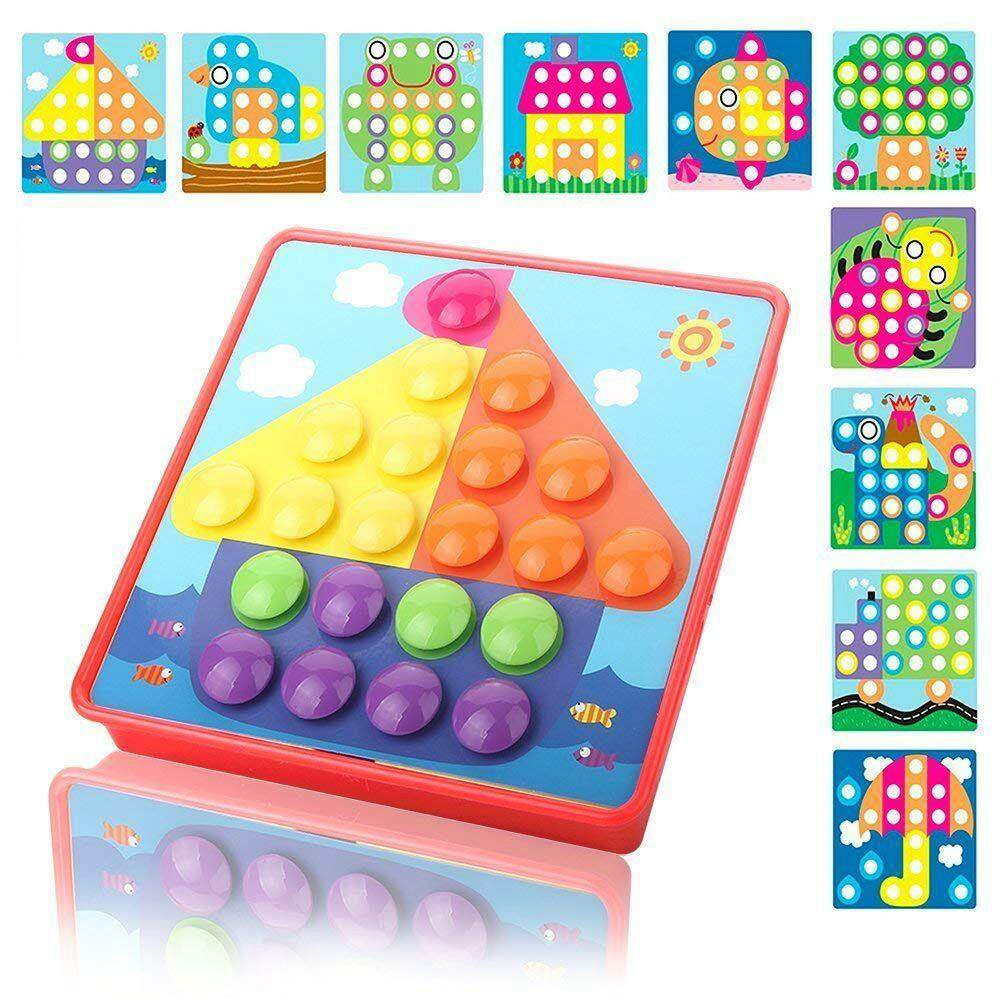 Button Art Color Matching Pegboard Puzzles Early Learning Educational Toys For Boys And Girls By Benefitwen.