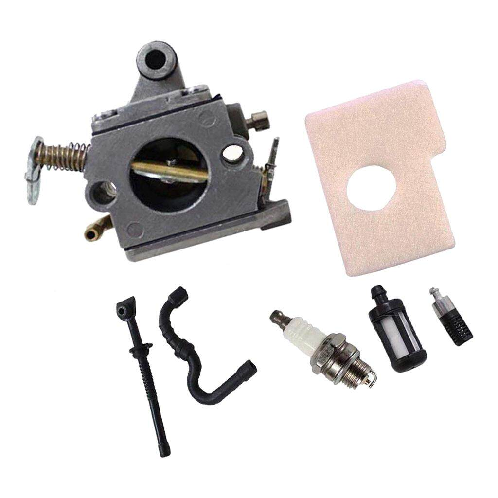Dolity Carb Kit for Stihl MS170 MS180 017 018 Chainsaw Air Filter Fuel Oil Line
