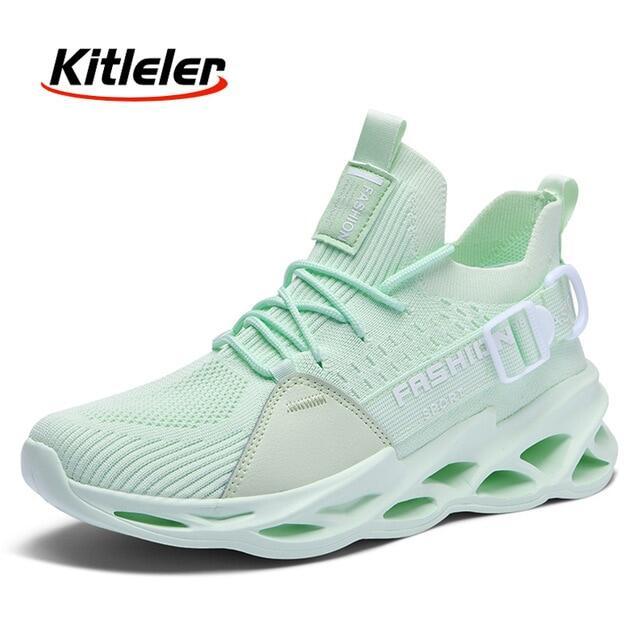 Thời Trang Người Đàn Ông Giày Chạy Lưới Thường Ngày Giày Tennis Thể Thao Nhẹ Lưỡi Chunky Sneakers Thoải Mái Unisex Giày Dép Mới