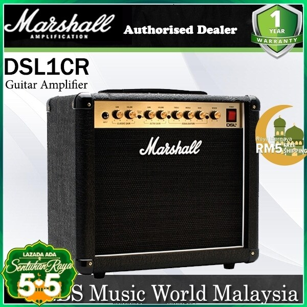 Marshall DSL1CR 1 Watt 1x8 2 Channel Tube Guitar Amp Amplifier with Effects (DSL 1CR) Malaysia