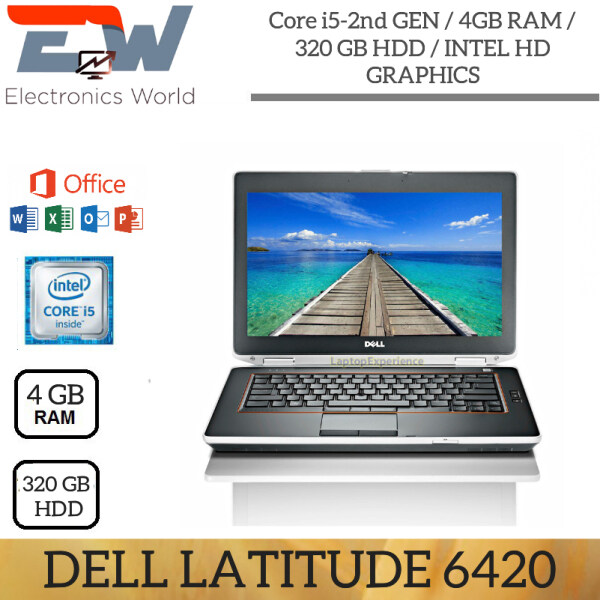 LAPTOP DELL LATITUDE E6420 / INTEL CORE I5 - 2nd GEN / 4GB RAM/ 320 GB HDD/ 14 INCH/ INTEL HD GRAPHICS/ Brand new battery / Dell original charger  (Used in Nice condition)/NO WEBCAM Malaysia