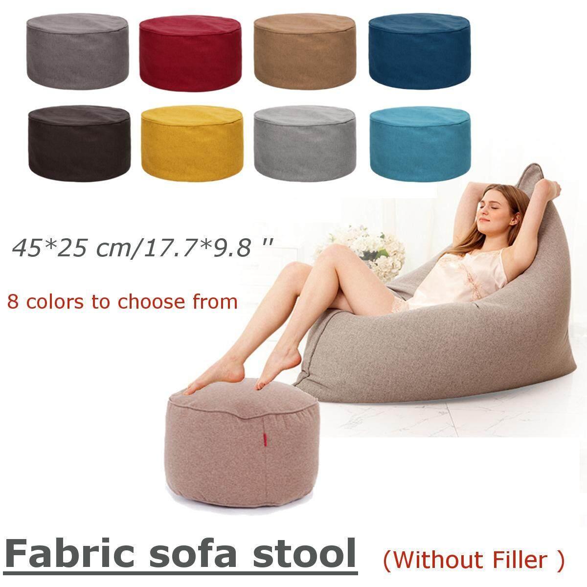 Terbaru Warna Solid Katun Lembut Tas Kacang Sofa Penutup Dipan Santai Bisa Dicuci Tanpa Filler By Freebang.