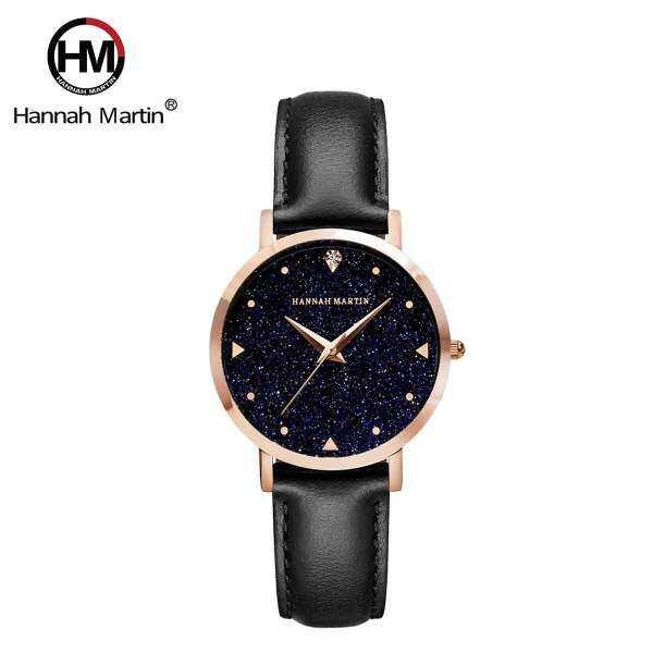 Hannah Martin Crystalline Leather Quartz Women Wristwatch Malaysia