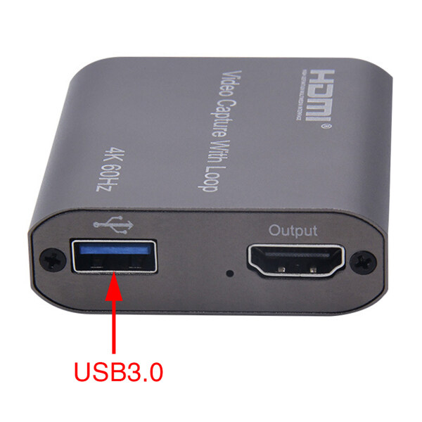 Broadcasting HD 1080P Live Streaming 4K 60Hz Portable Recording Loop Out Game Online Teaching USB3.0 HDMI Aluminium Alloy Video Capture Card